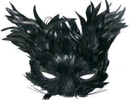 feather masks black feather creature eye mask