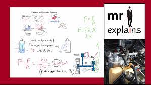 Ks3 Forces Worksheet Mr I Explains Pressure And Hydraulic Systems For Ks3 Ks4 Youtube