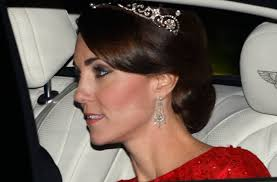 kate middleton diamond earrings kate middleton wows in packham and a diamond tiara at state