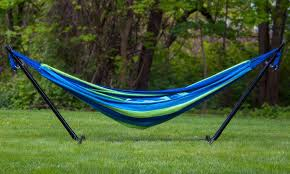 50 off on hammock with steel stand groupon goods