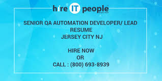 Sample Resume For Qtp Automation Testing by Senior Qa Automation Developer Lead Resume Jersey City Nj Hire