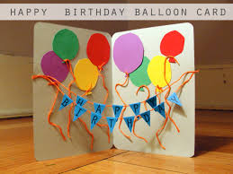 Homemade Gifts For Mom by Pintrest Kids Birthday Craft Ideas Happy Birthday Balloon Card
