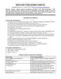 Kronos Resume Cover Letter Resume Sample Business Analyst Resume Sample Business
