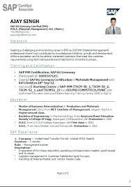 resume headline for freshers top rated sap mm resume u2013 articlesites info