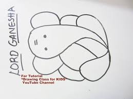 how to draw easy lord ganesha ganpati step by step tutorial for