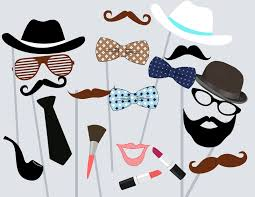 Photo Booth Accessories Moustache Photo Booth Props Magical Printable
