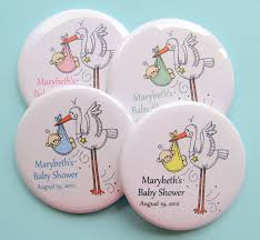 personalized baby shower favors stork baby shower favors personalized 2 25 inch button magnets