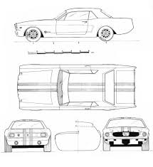 Free Blueprints Ford Mustang 1965 Blueprint Download Free Blueprint For 3d Modeling