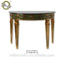 antique half moon table living room black marble top gold and old green antique half round