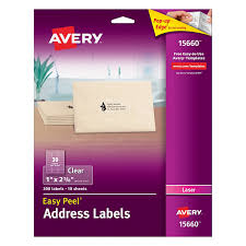 amazon com avery clear easy peel address labels for laser