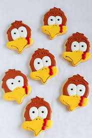 turkey cookies with an acorn cutter the bearfoot baker