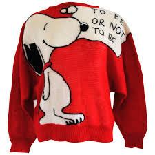 j c de castelbajaf for iceberg snoopy sweater to be or not to