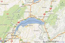 geneva map cities and towns on lake geneva in switzerland