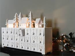 advent calendar wooden led lit advent calendar by the forest co