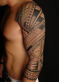 tribal tattoo full arm
