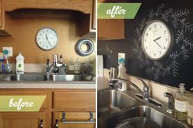kitchen charm chalkboard paint backsplash railing stairs