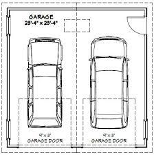 size of 2 car garage 2 car garage dimensions home desain 2018