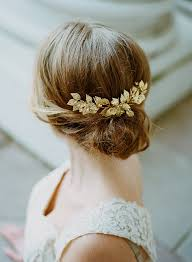 gold hair accessories gold bridal comb gold leaf comb bridal headpiece gold leaf