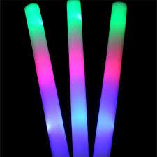 light sticks light up foam sticks led wands batons dj glow stick