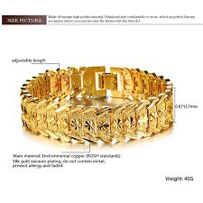 yellow bracelet images Opk jewelry men 39 s fashion 18k yellow gold plated link jpg