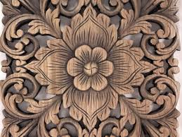 recycled teak wood carving square panel antique akha
