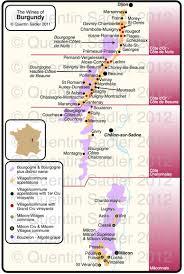Burgundy France Map by Burgundy Wine Map Quentin Sadler U0027s Wine Page
