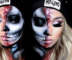 best 25 half face makeup ideas on pinterest skeleton makeup