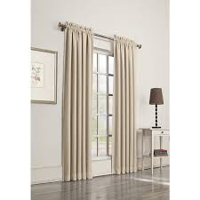 Single Window Curtain by Shop Allen Roth Guestling 84 In Ivory Polyester Rod Pocket Room