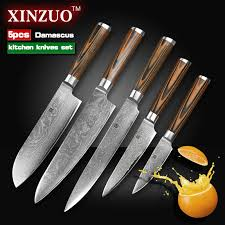 japanese damascus kitchen knives xinzuo 5 pcs kitchen knives set japanese damascus kitchen knife