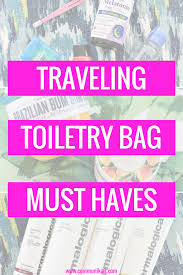 Oklahoma travel toiletries images Traveling toiletry bag must haves communikait png