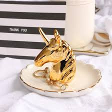 porcelain unicorn ring holder images Golden unicorn ring holder unicorn galaxy jpg