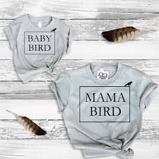 mommy and me t shirt mama bird baby bird tee shirt