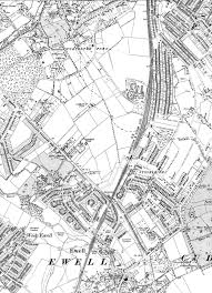 Surrey England Map by Stoneleigh