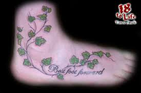 ivy tattoo on waist ivy and butterfly foot tattoo designs