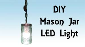 Hanging Led Lights by Diy Step By Step Tutorial Mason Jar Led Hanging Light Pirate