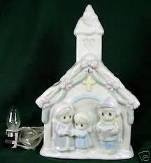 precious moments night light enesco precious moments night light christmas church 93 ebay
