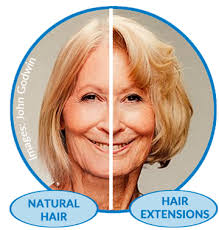 middle aged women thin hair older women using extensions to combat thinning hair but at what