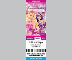 barbie the princess and the popstar printable concert ticket