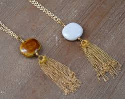long gold tassel necklace images Gold tassel necklace etsy jpg