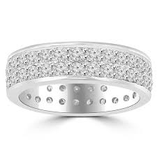 eternity wedding bands 3 40 ct men s cut diamond eternity wedding band ring