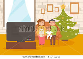 Home Interior Vector by Happy Family Christmas Home Interior Vector Stock Vector 540419242