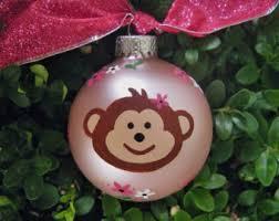 monkey ornaments etsy