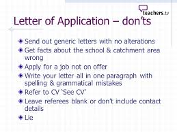 how to write an application letter for the post of a senior