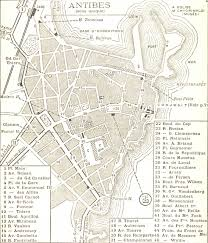 map of antibes 1934 antibes map antibes mappery