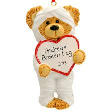 broken leg ornament broken bone humor broken leg