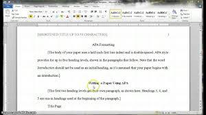 writing a apa paper short running title research paper essay help short running title research paper