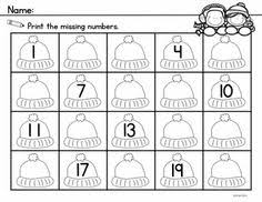 numbers 1 20 worksheets and center activities to reinforce