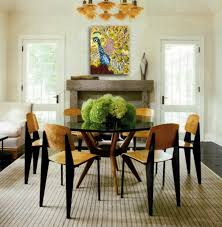 small dining room ideas area brown cement floor classic umbrella