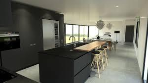 cuisine et cuisine les rouen cuisine moderne haut de gamme design gris anthracite et bois