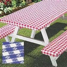 vinyl picnic table and bench covers 3pc picnic table bench seat cover elastic fitted vinyl outdoor 5